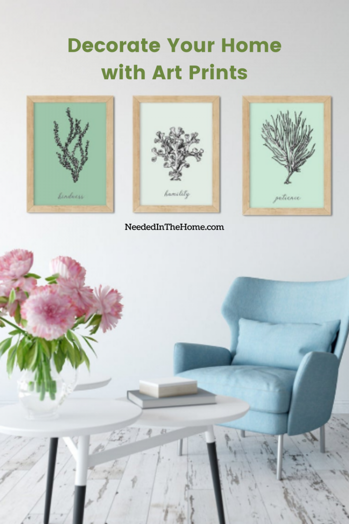 pinterest-pin-description Decorate Your Home With Art Prints seaweed wall art with inspirational words chair flowers books neededinthehome