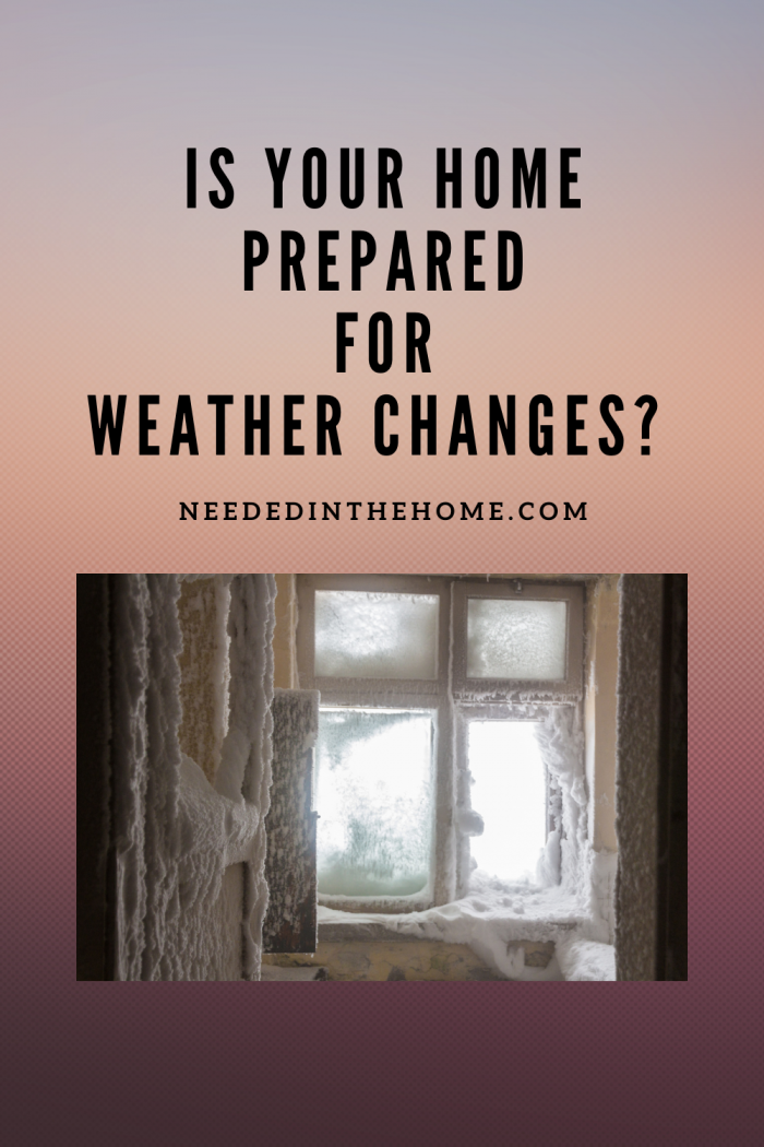 pinterest-pin-description is your home prepared for weather changes? window pane frozen over neededinthehome