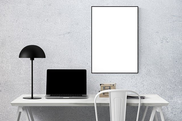 pinterest-pin-description desk laptop blank canvas art print