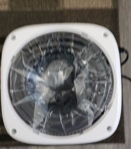 Product Review of Okaysou Air Purifier AirMic4S air filter in it's clear packaging inside the unit