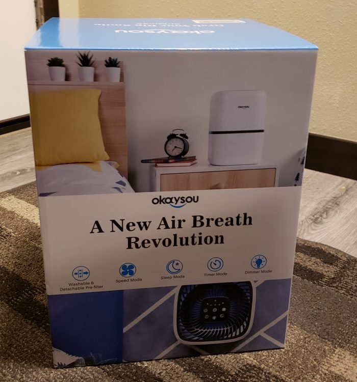 Product Review of Okaysou Air Purifier AirMic4S product box