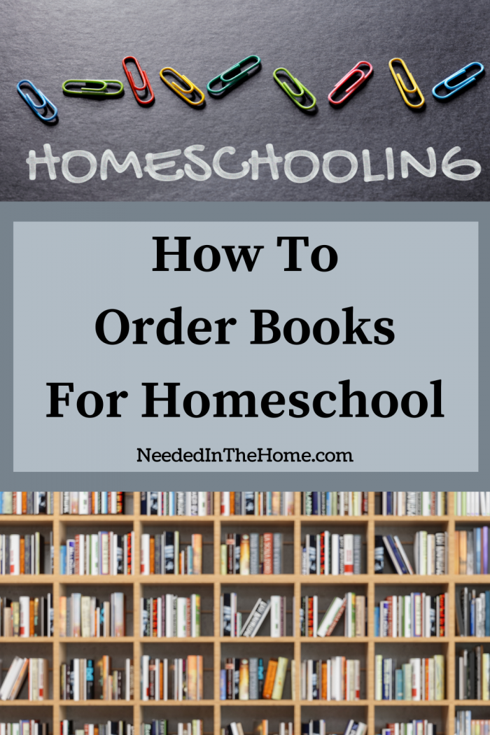pinterest-pin-description Homeschooling How To Order Books For Homeschool books on shelves colorful paperclips neededinthehome