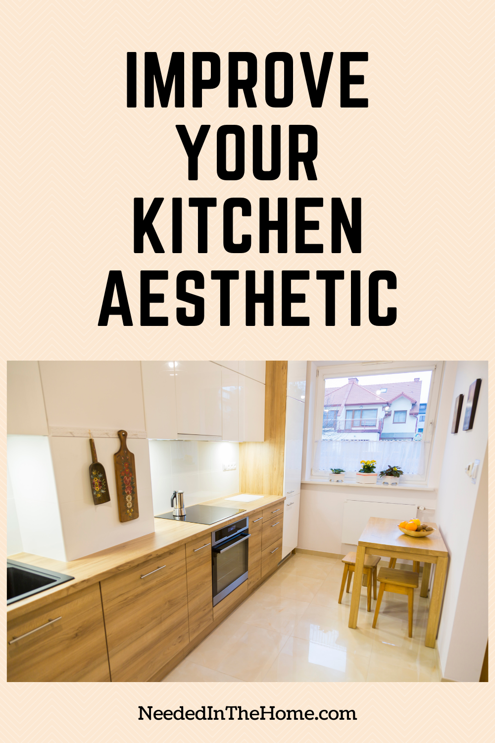 pinterest-pin-description improve your kitchen aesthetic small kitchen light colors neededinthehome
