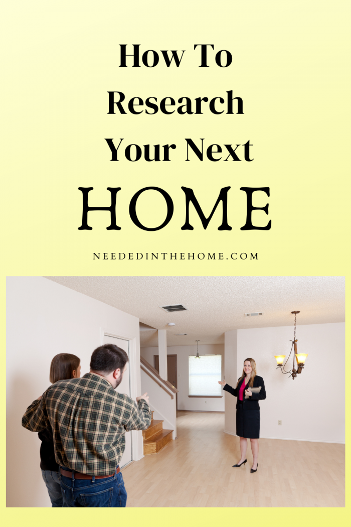 research your next home prospective buyers and realtor in empty house for sale