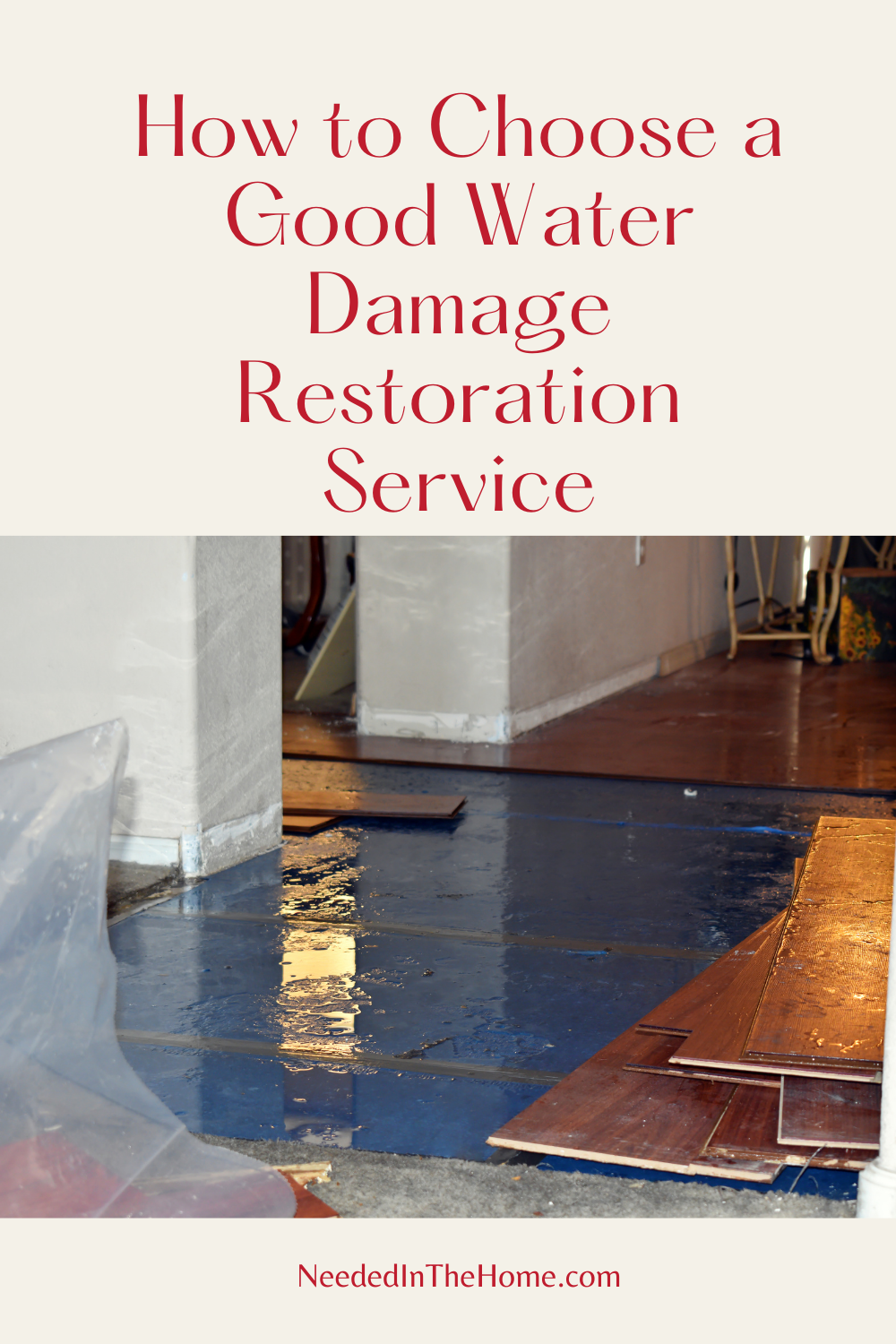 pinterest-pin-description how to choose a good water damage restoration service wooden tile floor water damaged flooding neededinthehome