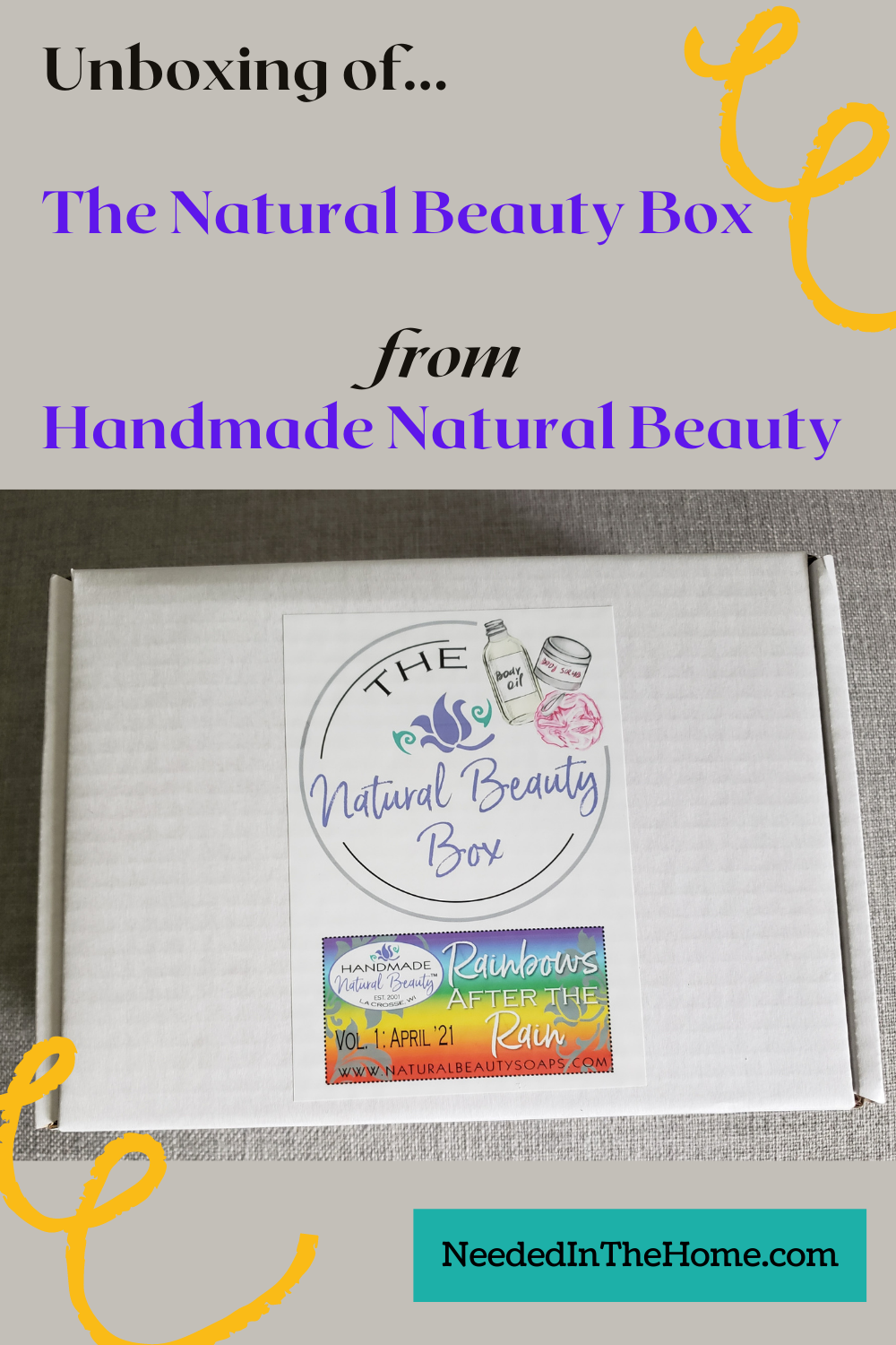 pinterest-pin-description Unboxing of The Natural Beauty Box from Handmade Natural Beauty neededinthehome
