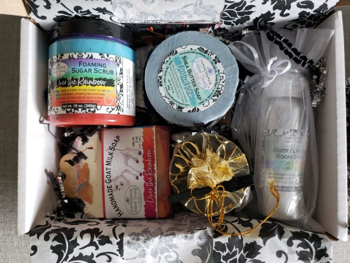 Unboxing of subscription box Handmade Natural Beauty Box products in a box neededinthehome