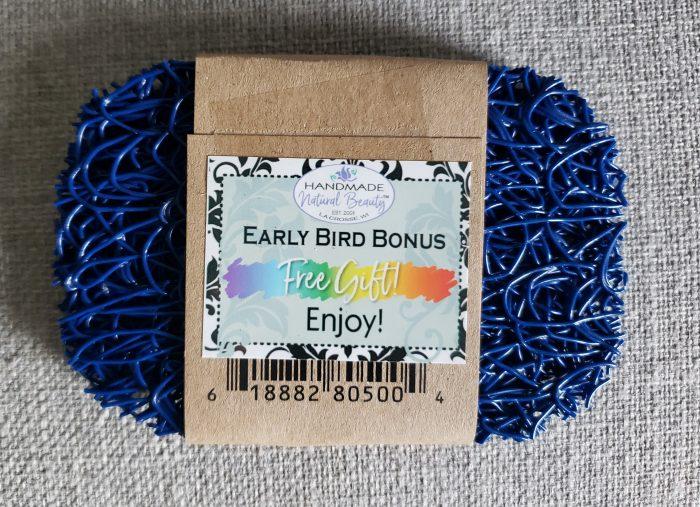unboxing of handmade natural beauty subscription box early bird bonus washable soap holder neededinthehome