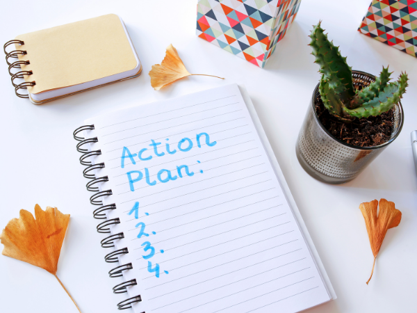 financially self sufficient action plan list items 1 through 4