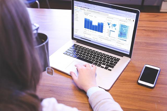e-commerce business woman using laptop smartphone tea