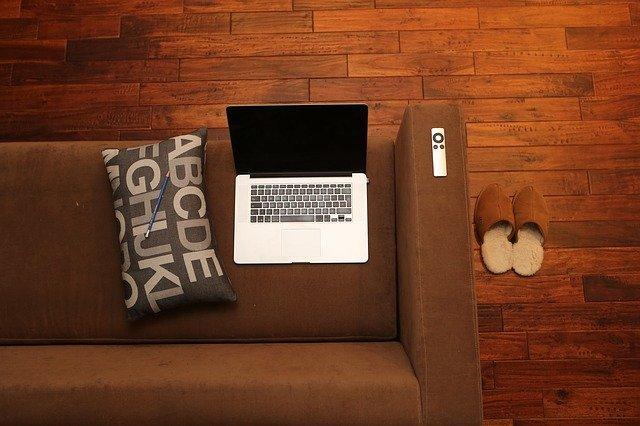 pinterest-pin-description four home business ideas couch pillow laptop remote slippers