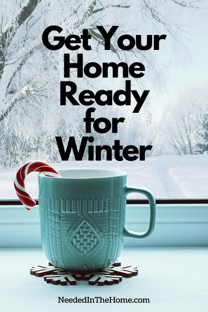 Home ready for winter mug candy cane snow neededinthehome